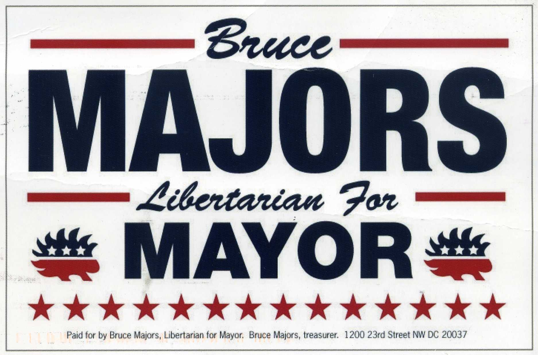 Adrian Salsgiver Endorses Bruce Majors for Mayor